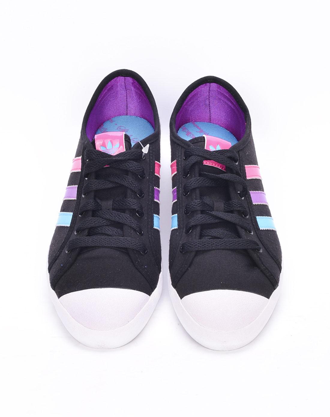 阿迪达斯adidas女子黑色复古鞋G62099 唯品会 -女子黑色复古鞋