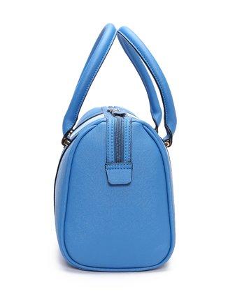 梦特娇montagut梦特娇女款天蓝配浅蓝圆桶形手提包