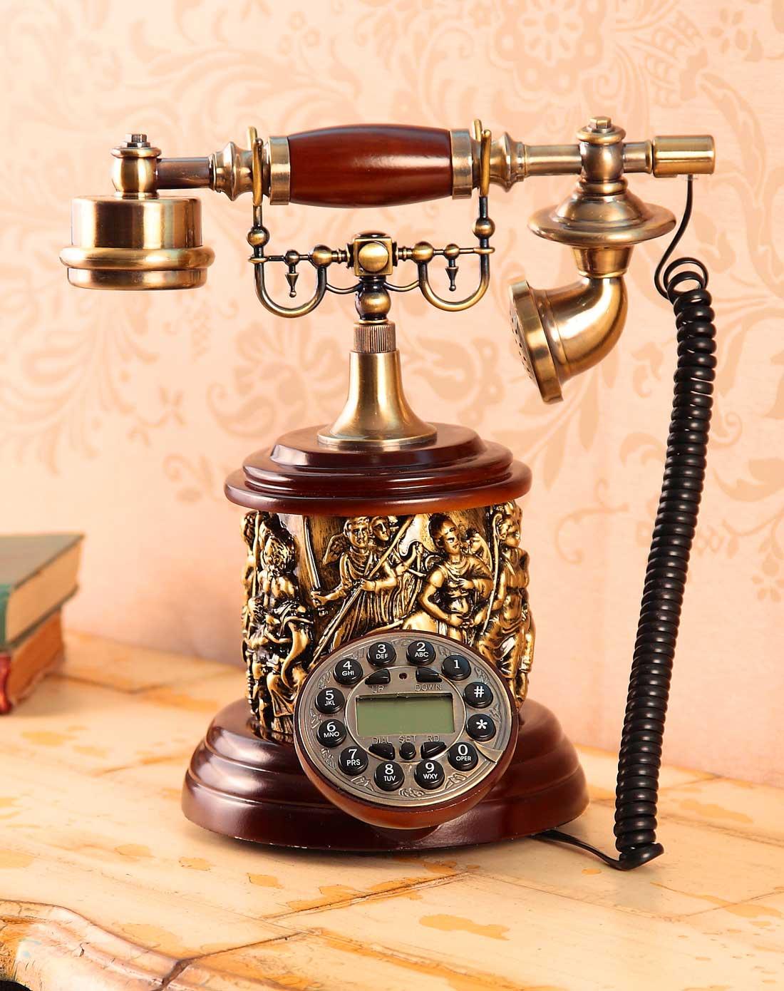 荷玛heim欧式复古电话机-圆形m870504