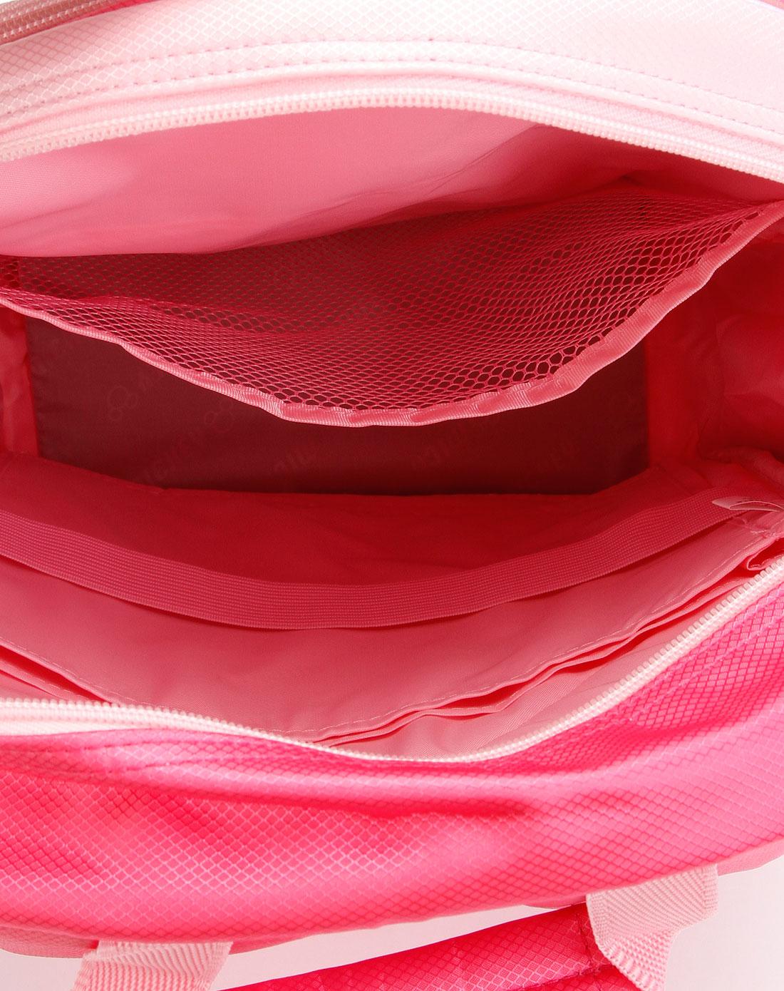 学生文具专场迪士尼disney女童桃红色印图时尚双肩包