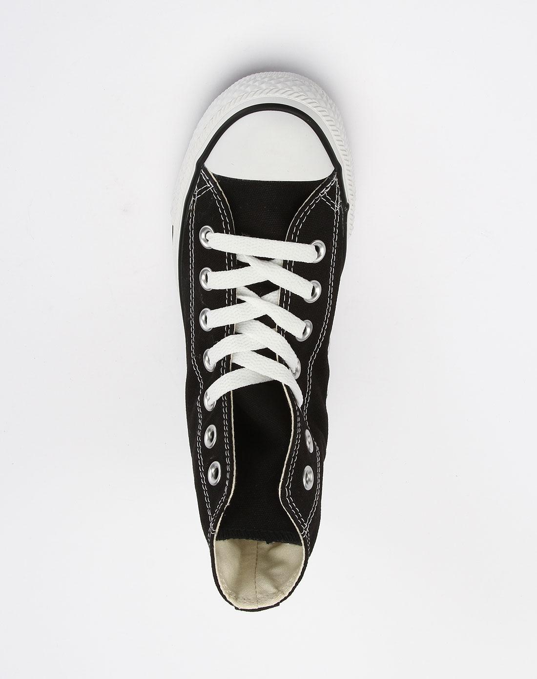 女款黑色经典绑带帆布鞋101010