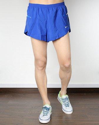 耐克nike男子蓝色跑步短裤405146-416