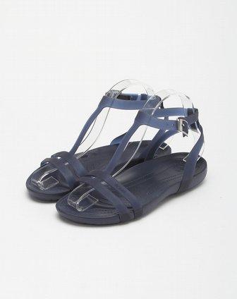女款海蓝色赛丝凉鞋