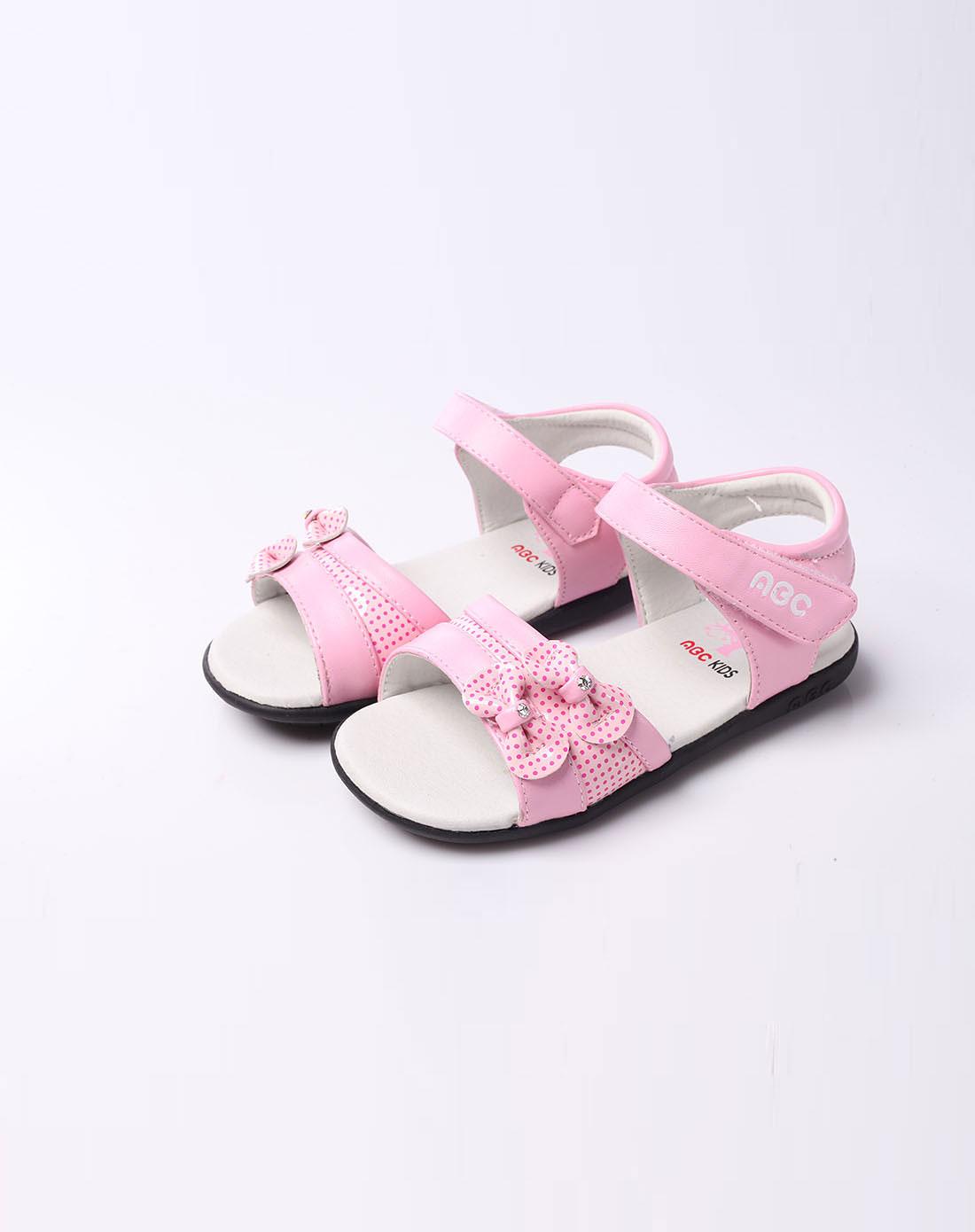 abckids男女童女宝宝粉色款皮凉鞋p22115515-6900