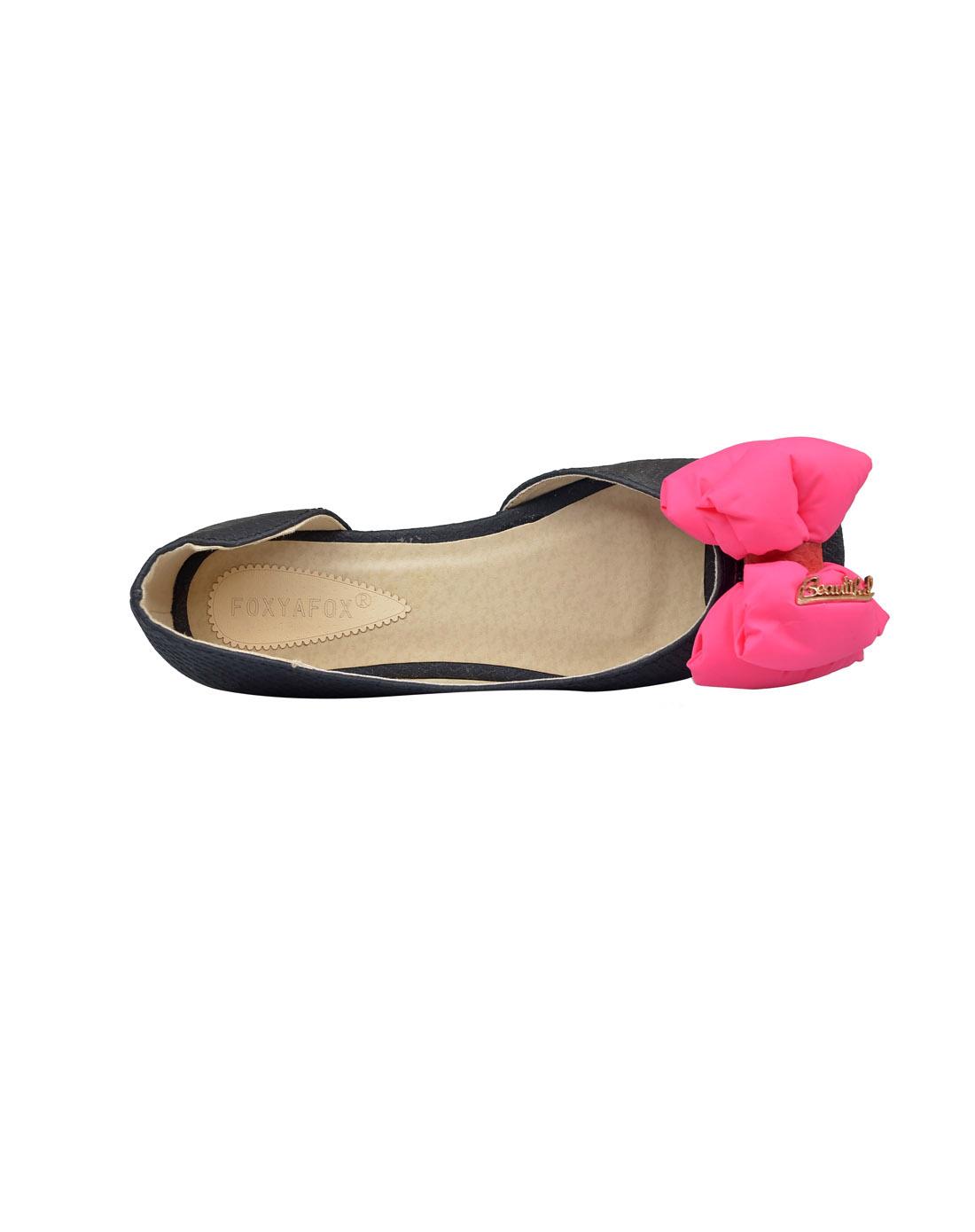 foxyafox平跟平底鱼嘴鞋f998