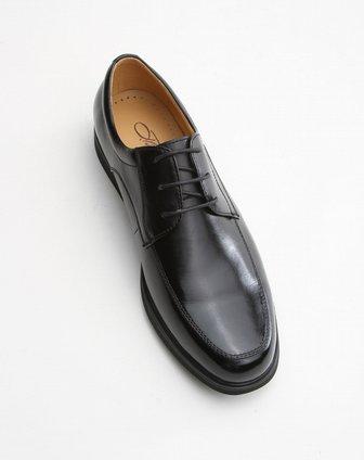 benato黑色系带光面绅士皮鞋lc16432a1001