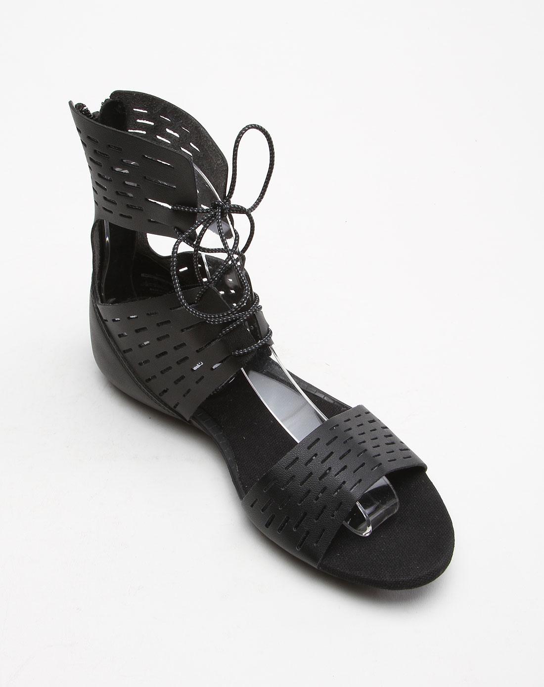 耐克nike-女款简约透气黑色平底凉鞋511312-010