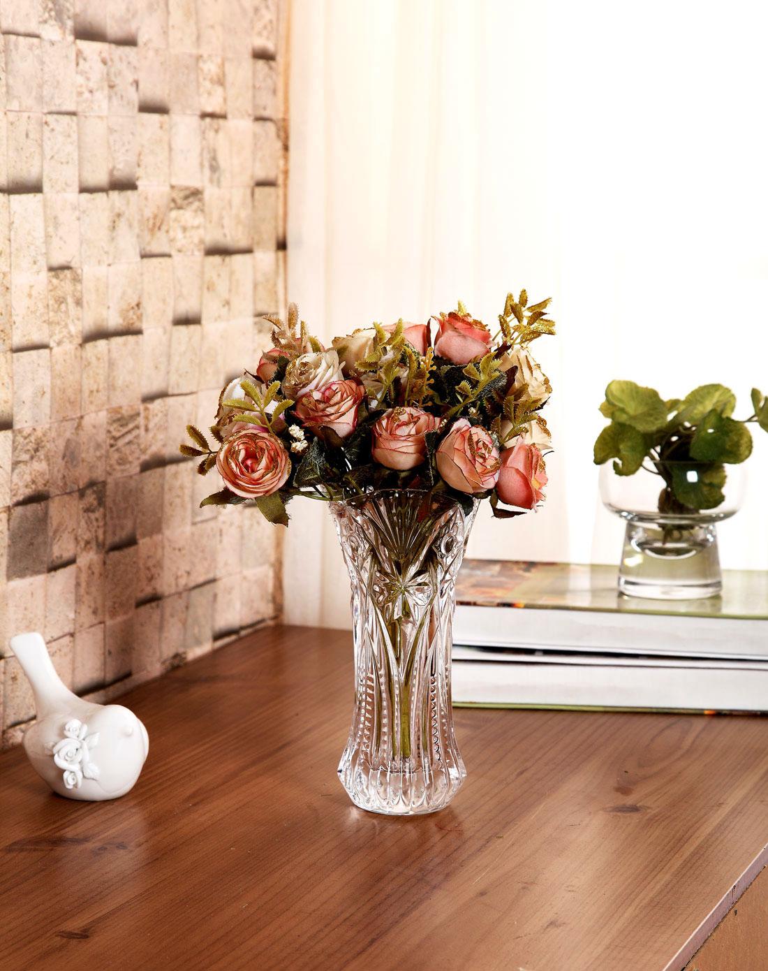 荷玛heim欧式水晶玻璃花瓶-枫叶m870264