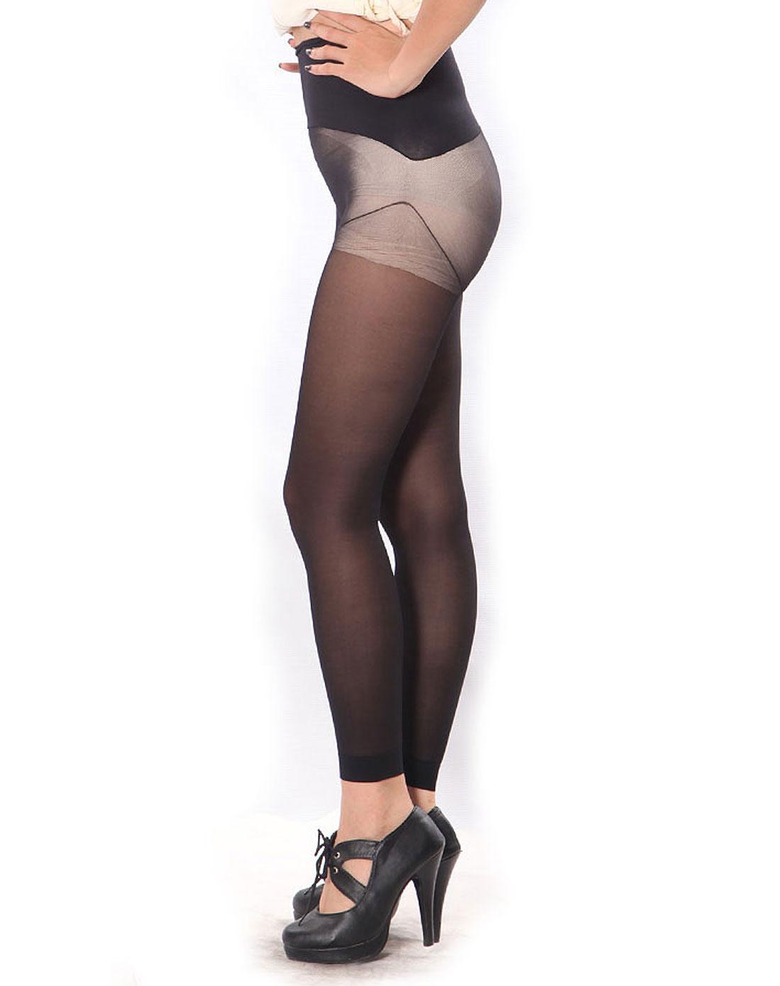 15d收腹无缝超薄透明绢感连裤袜(3双装)(烟灰色)