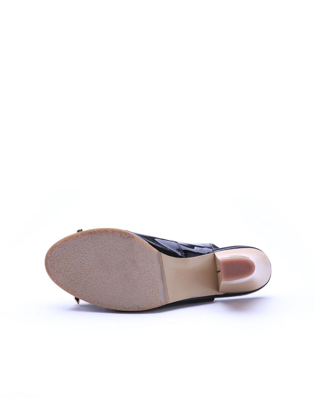高蒂gaodi黑色牛皮凉鞋5202-31701