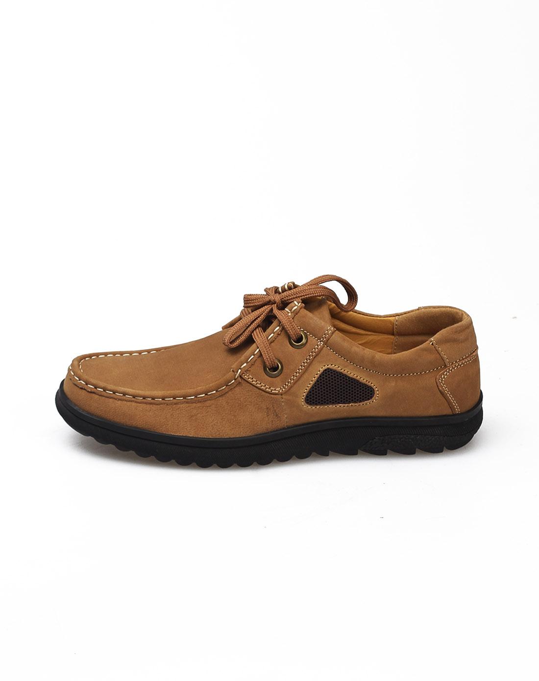 aaa浅棕色简约舒适皮鞋b386603721