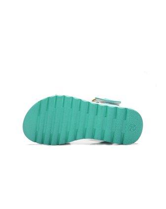 女小童兰色波西米亚风凉鞋