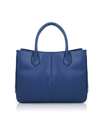 贝尔女装深蓝高档牛皮手提包131079b