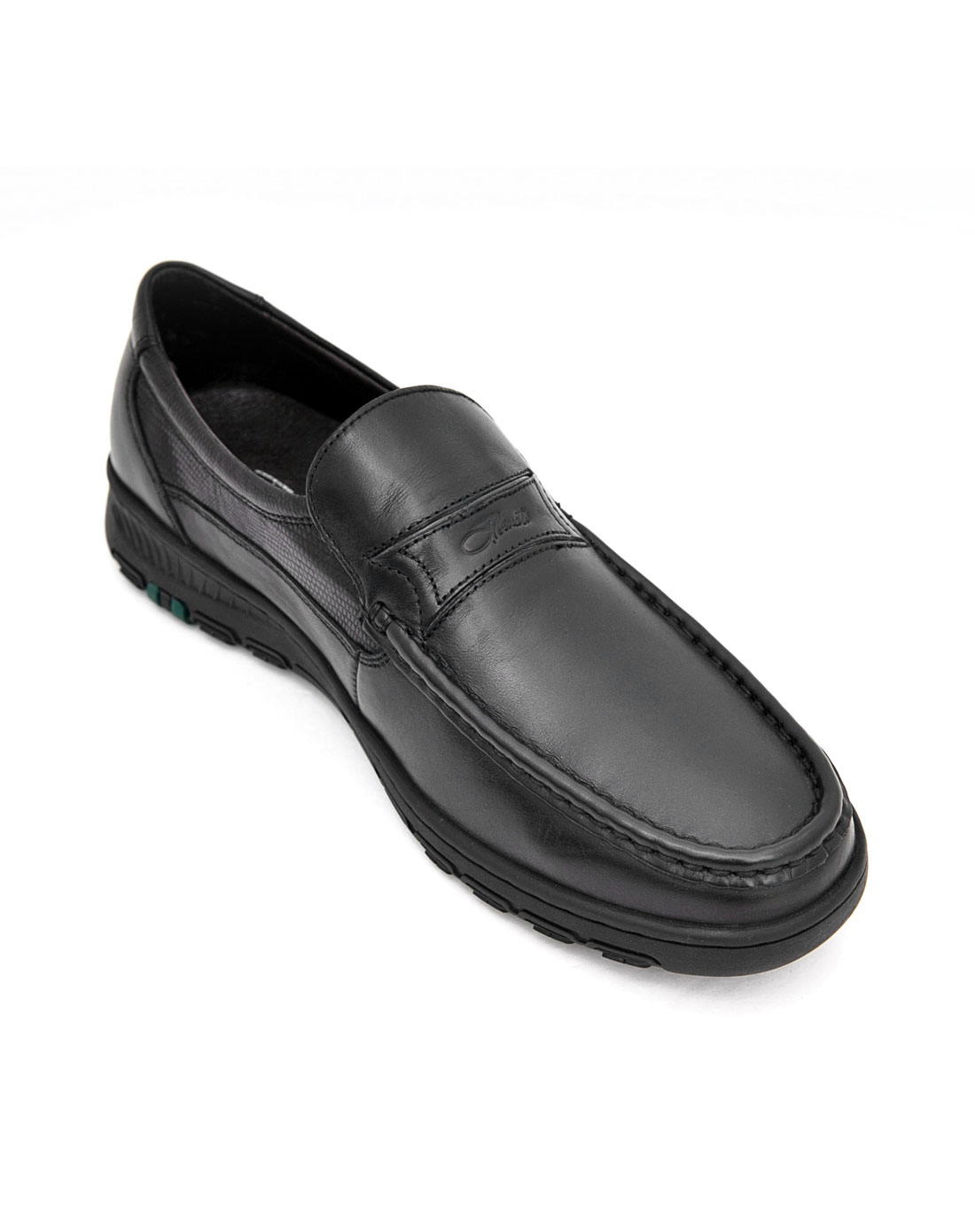 benato黑色商务休闲男鞋om23131a1001