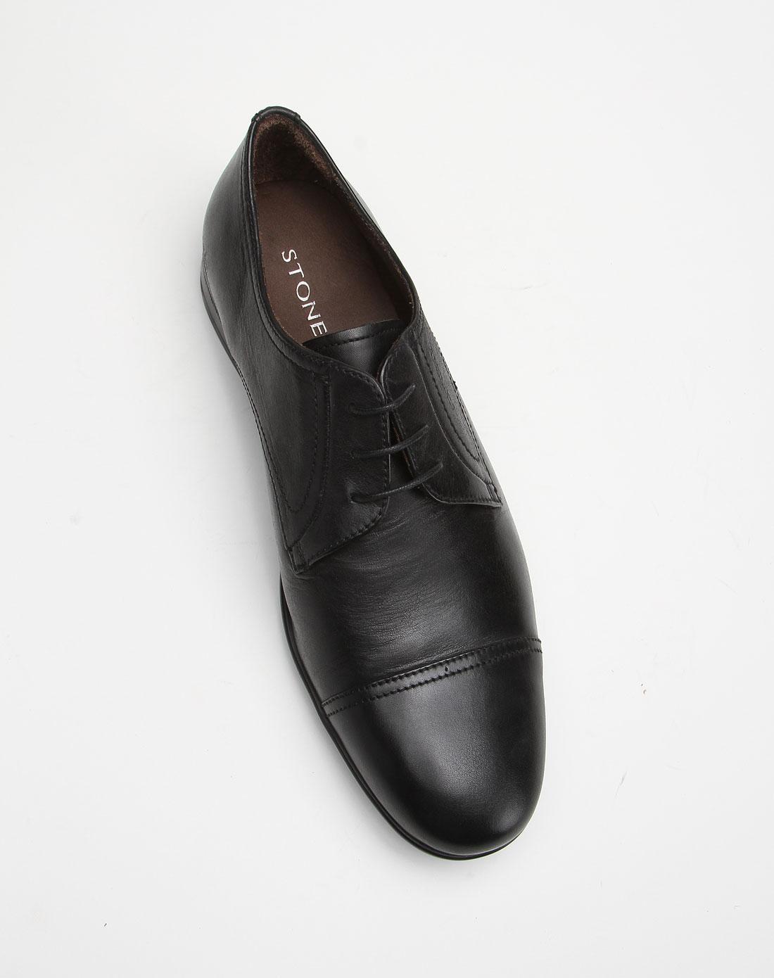 斯通富莱stonefly黑色商务休闲皮鞋sd21sm790411