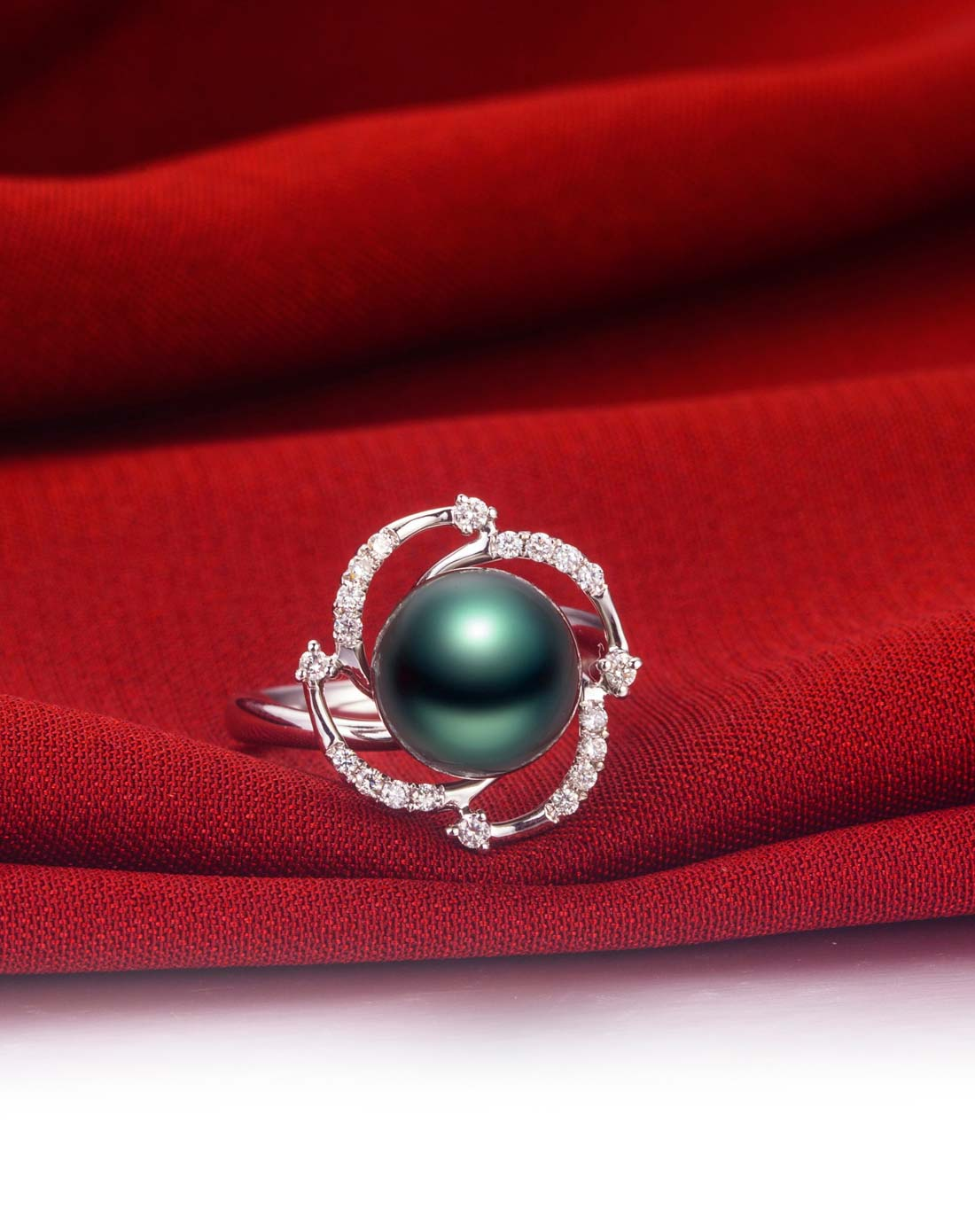 爱度doido珠宝专场18k金珍珠戒指id017157