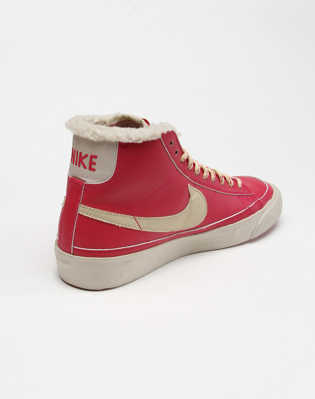 耐克nike男女鞋-经典专场玫红色经典款淑女休闲板鞋